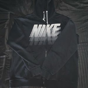 black nike zip-up hoodie